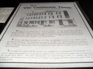 Yardley PA, Continental Tavern Menu