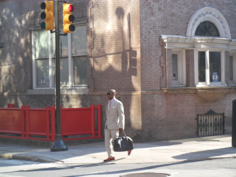 man with the red shoes, philadelphia
