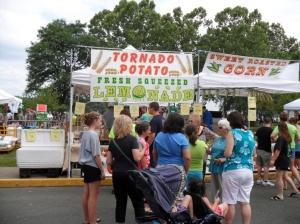 Celtic Festival Bristol PA,tornado potato and fresh squeezed lemonade