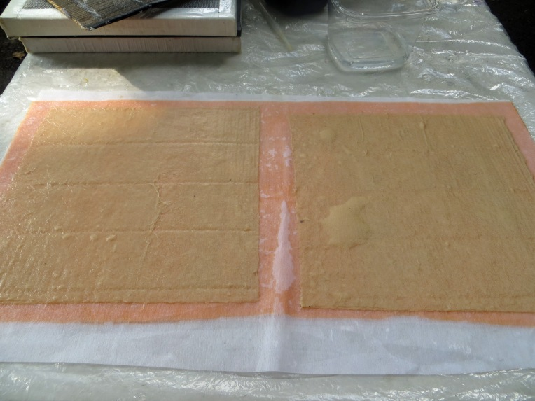 first sheets of paper  - pape rmaking
