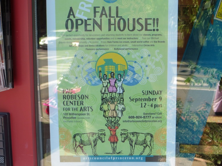 Princeton Arts Council fall open house_Paul Rebeson Center for the Arts_