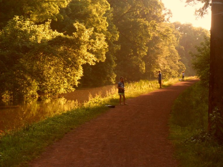sunset on the towpath