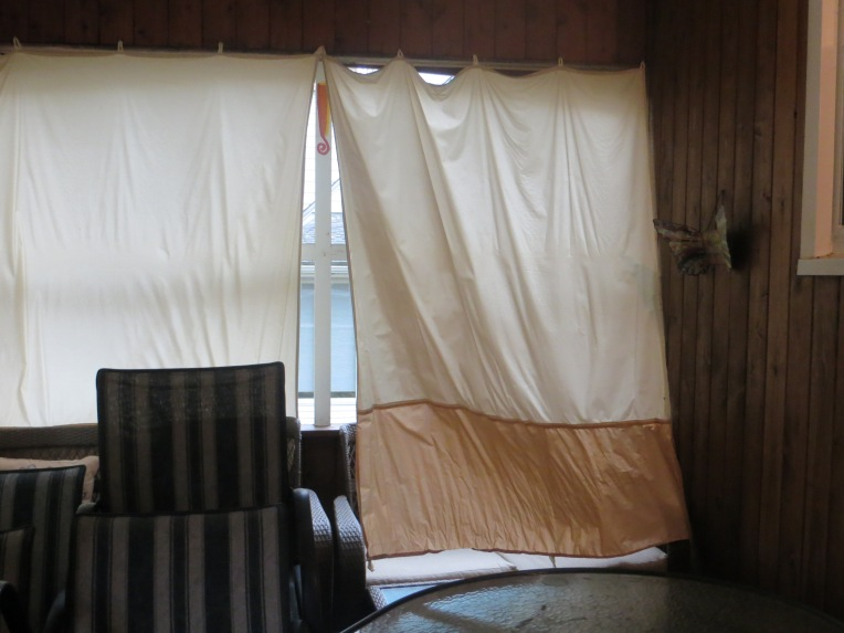 wind blowing my porch curtains two days before Sandy arrives