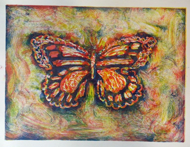 monotype print butterfly 1