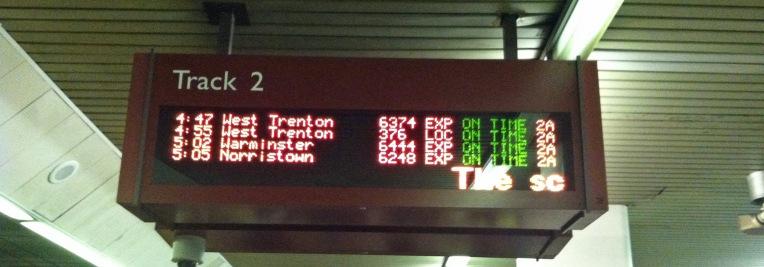train arrival board