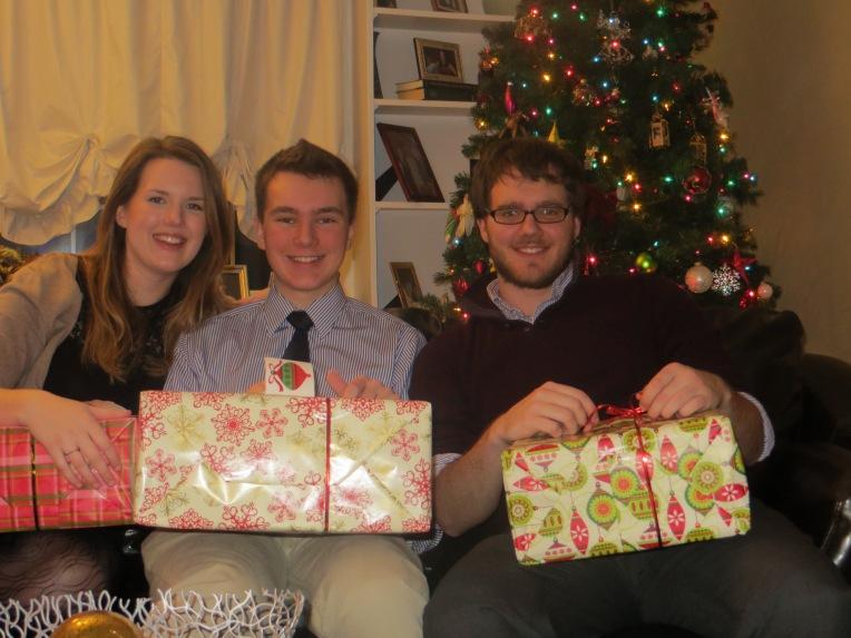 Katie, Christian, and Jeff on Christmas Eve