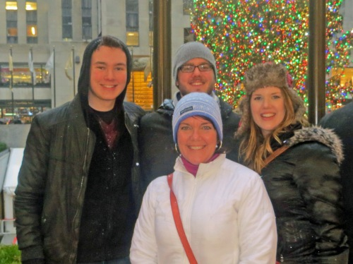 NYC in the rainy cold at Christmas