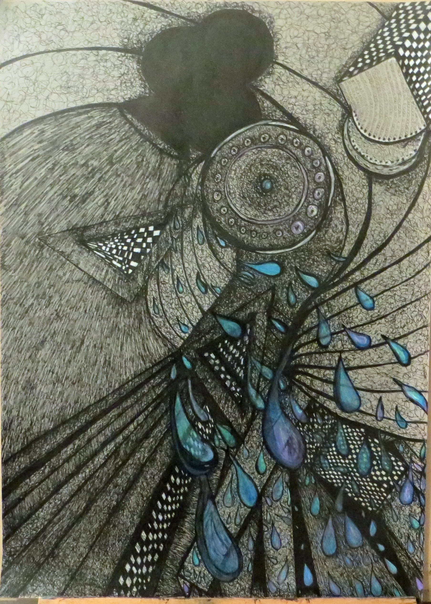 There is perfection in imperfection its a whole new world 8 abstract drawing