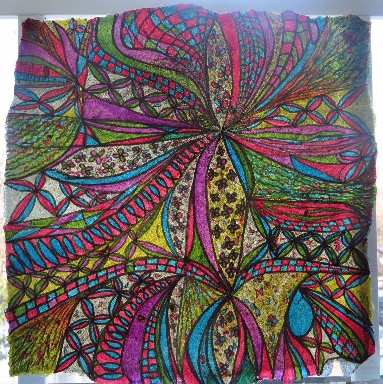"""""""abstract ink drawing_ribbons of joy"""""""