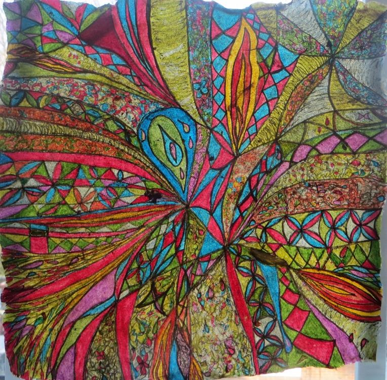 """""""abstract ink drawing_hot air baloon"""""""