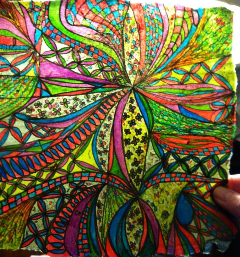 """""""abstract ink drawing ribbons of joy_final"""""""