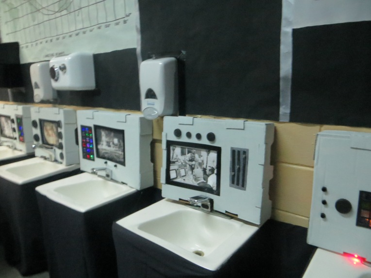 Control Panels in Boy's Restroom Pennsbury Prom Decorations