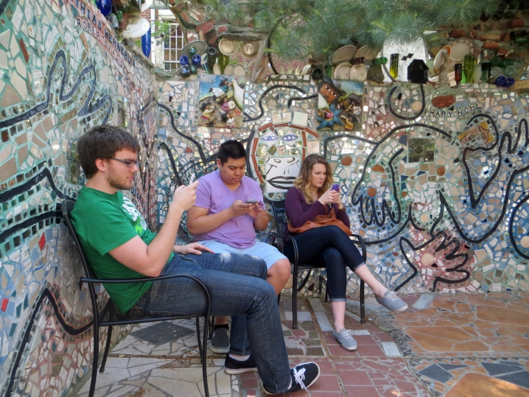 texting in the magic garden