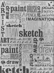 Sketch, draw, live, express- Sketch book cover