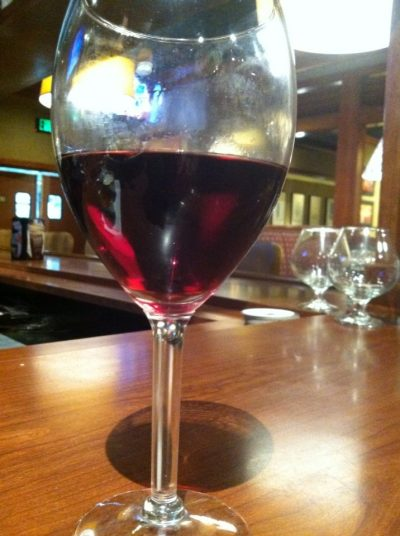 Glass of wine at Ruby Tuesday
