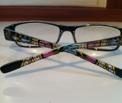 new glasses frames with design on bow