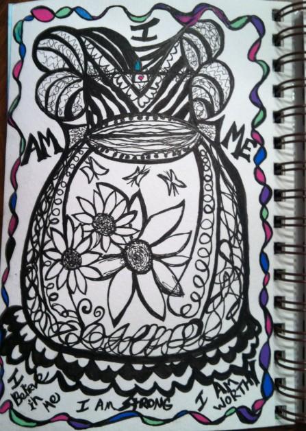i am me - Doodle Art Dress