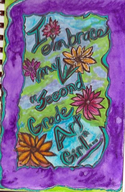 I embrace my second grade art girl_version 2