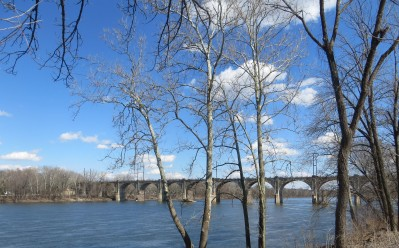 the Delaware River on a Breezy day in March