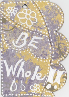 Be Whole - back cover of the journal