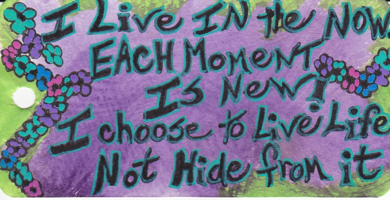 I live in the now