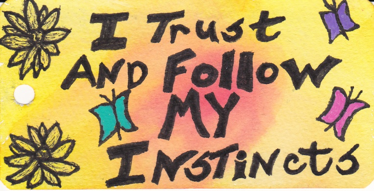 I trust and follow my instincts