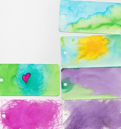 watercolor pages for journal entries