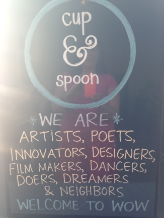 Cup and spoon coffee shop sign