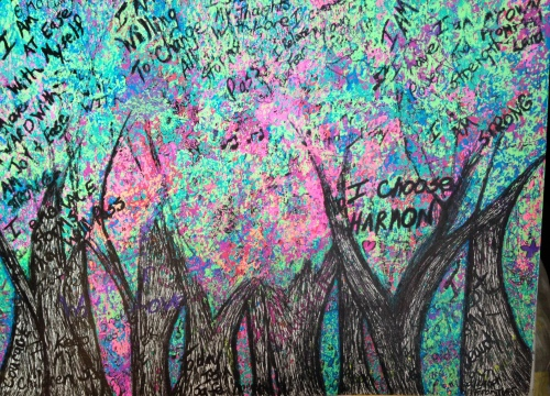 Forest drawn in Ink