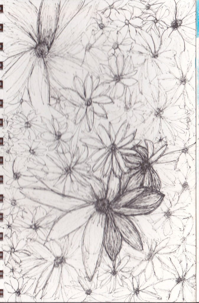 flower garden doodle journal