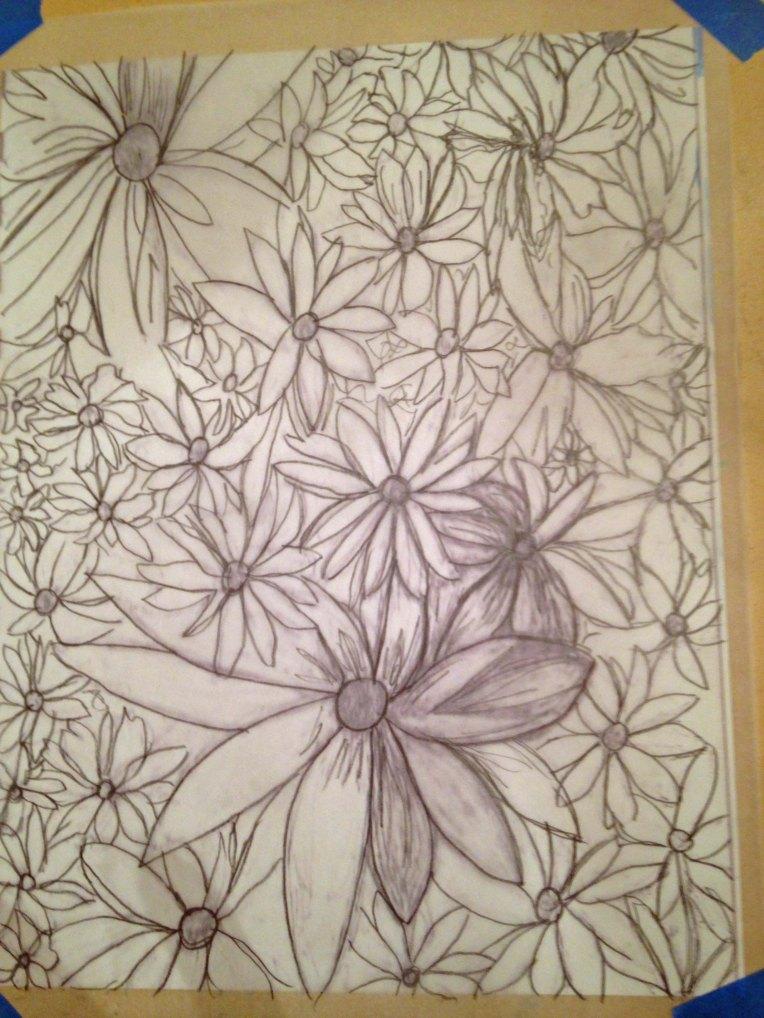 Transferring the Graphite_flower garden_2