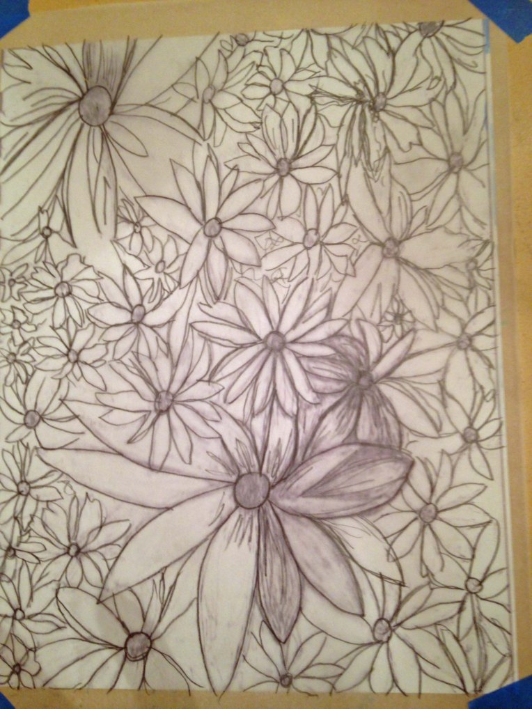 Transferring the Graphite_flower garden_2