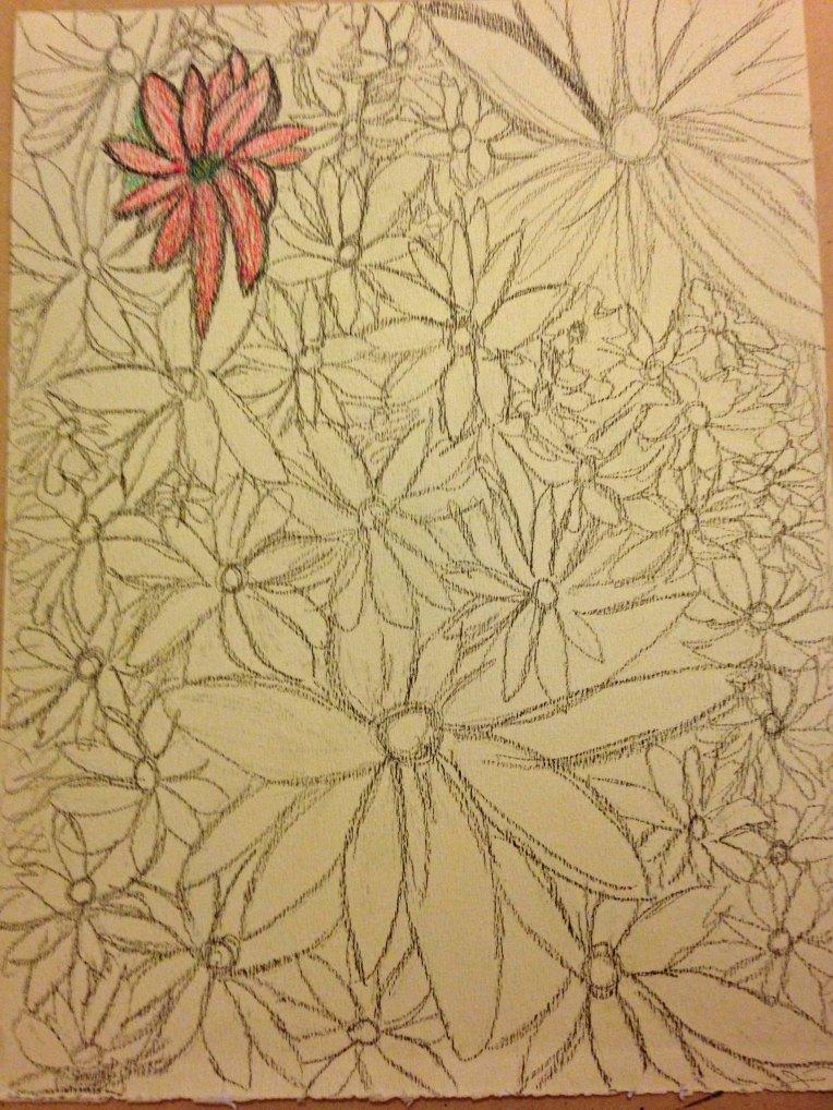 Water Color Pencil_Flower Garden_1