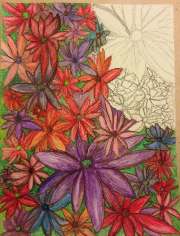 Water Color Pencil_Flower Garden_10a1