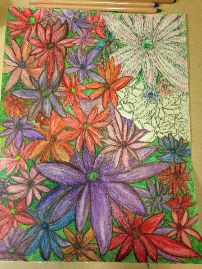 Water Color Pencil_Flower Garden_10b