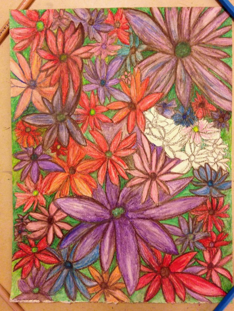 Water Color Pencil_Flower Garden_10d