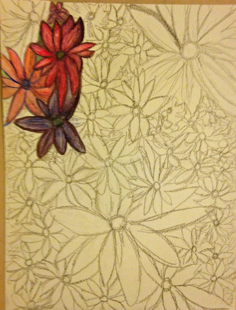 Water Color Pencil_Flower Garden_3
