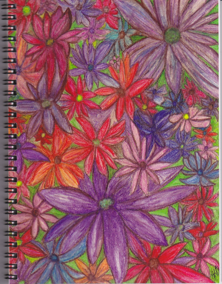garden flower notebook