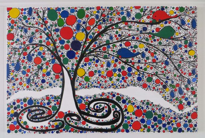 Three Little Birds Acrylic Painting