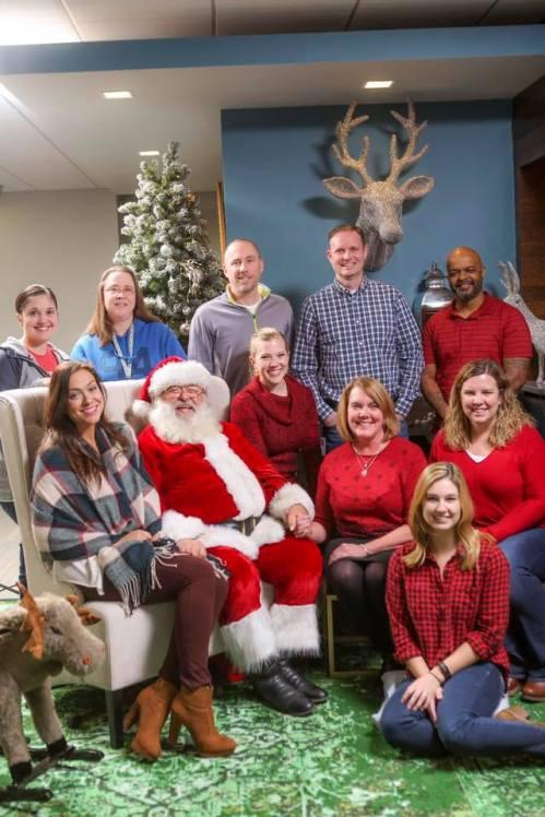 team with Santa