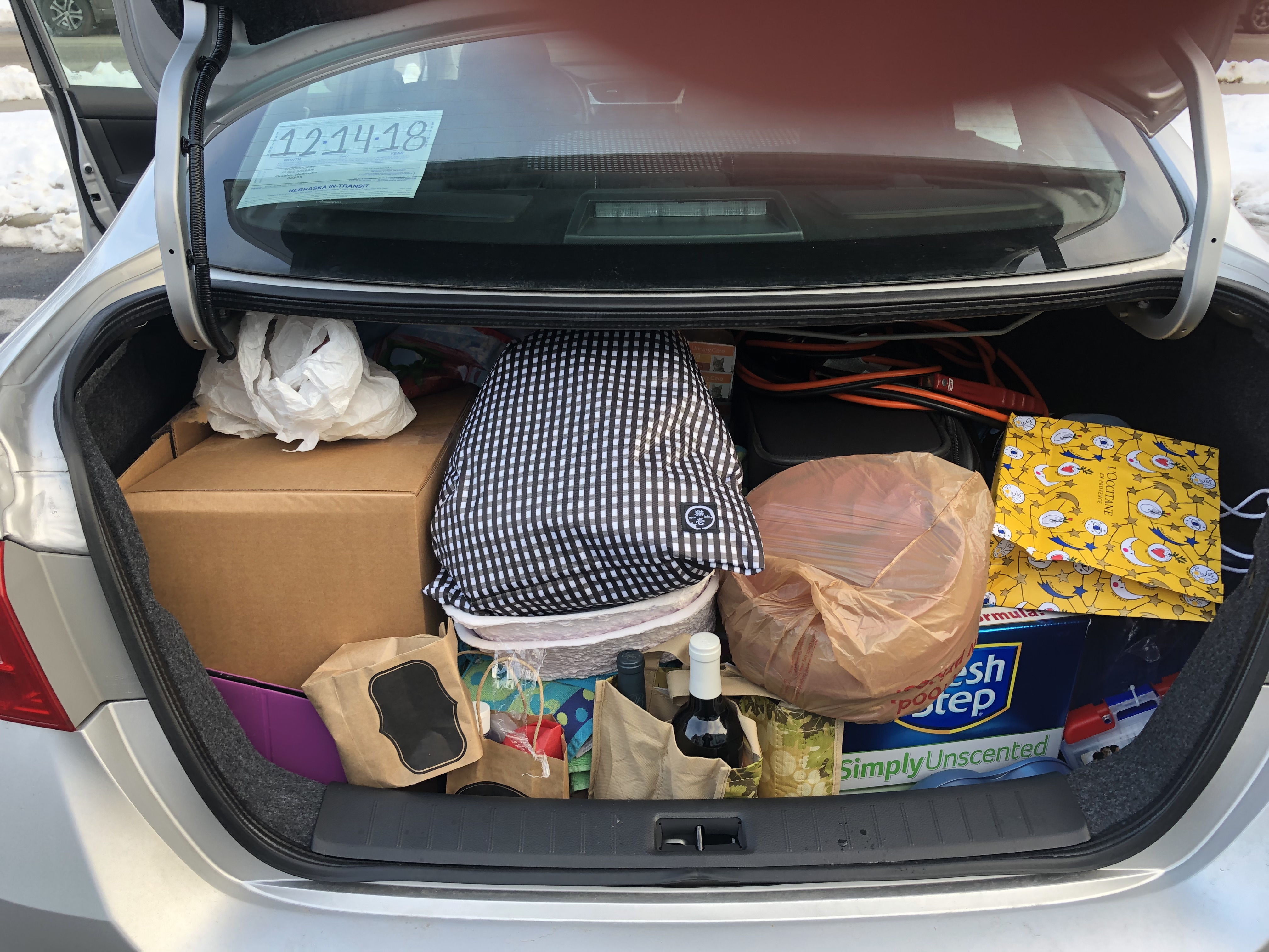 Trunk Packed for Move to NY