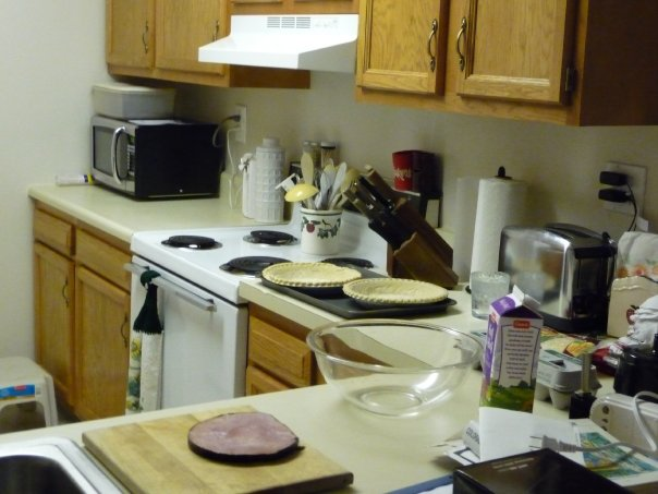 The kitchen in the Kathy Street Apartment