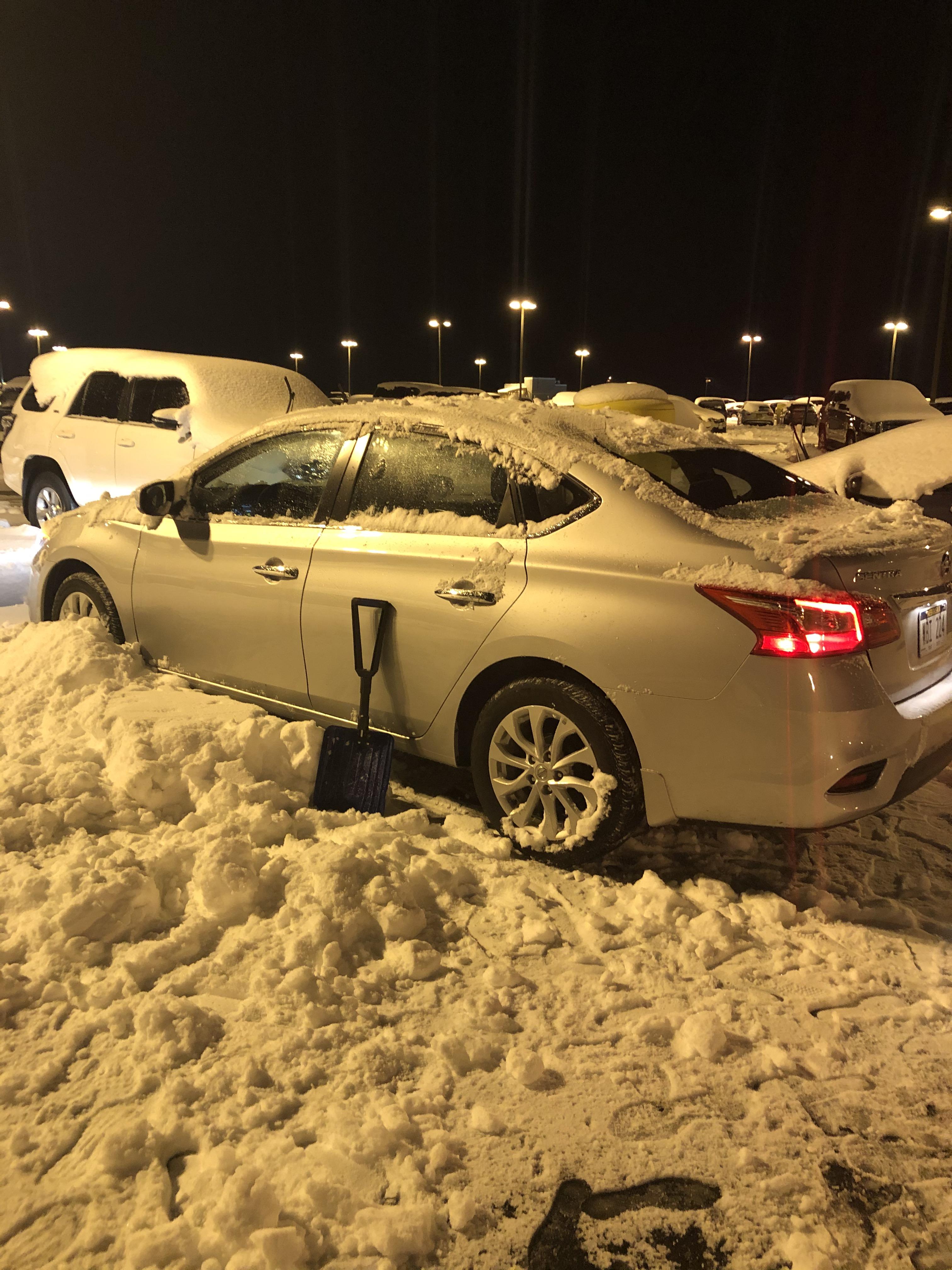 Snowtop roof parking
