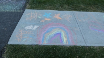 Sidewalk Chalk Art.kids.2