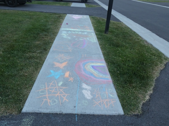 Sidewalk Chalk Art.kids