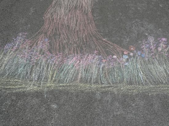 Tree Driveway Art Flowers.2